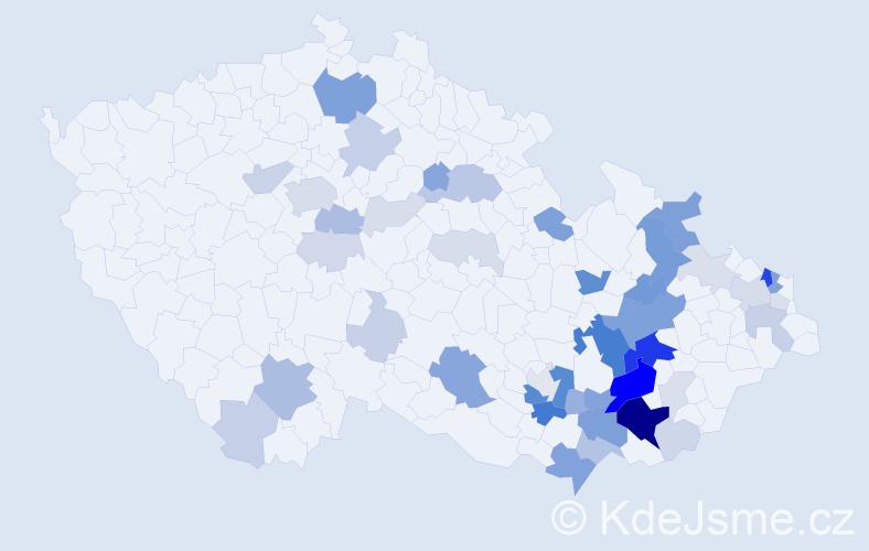 Příjmení: 'Kočířová', počet výskytů 157 v celé ČR