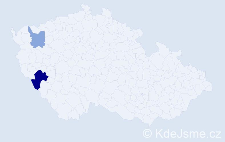 Příjmení: 'Krotzký', počet výskytů 4 v celé ČR