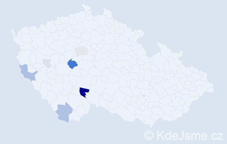 Příjmení: 'Ferra', počet výskytů 12 v celé ČR