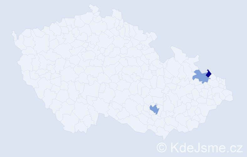 Příjmení: 'Jeremias', počet výskytů 5 v celé ČR