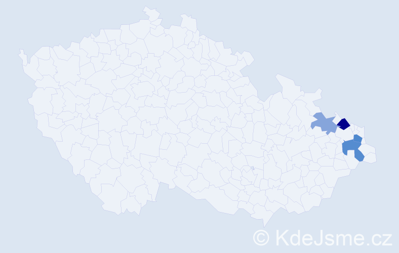 Příjmení: 'Chrzibková', počet výskytů 7 v celé ČR