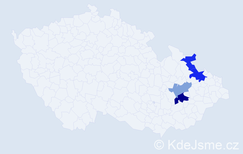 Příjmení: 'Isakidis', počet výskytů 13 v celé ČR