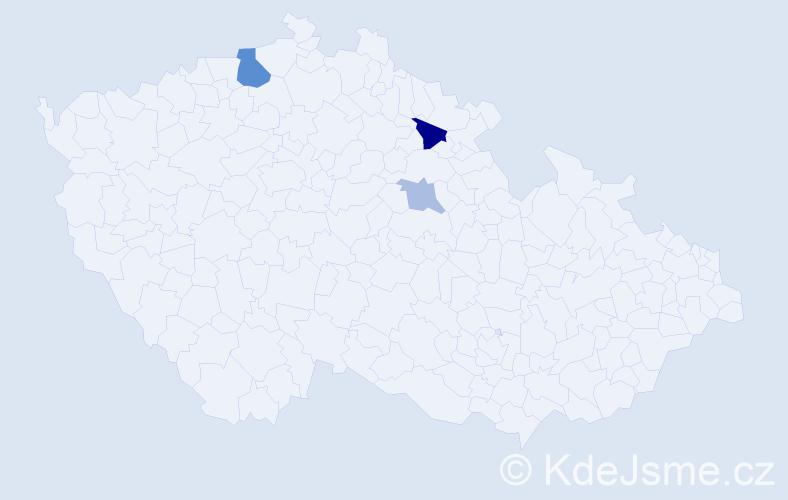 Příjmení: 'Flégelová', počet výskytů 6 v celé ČR