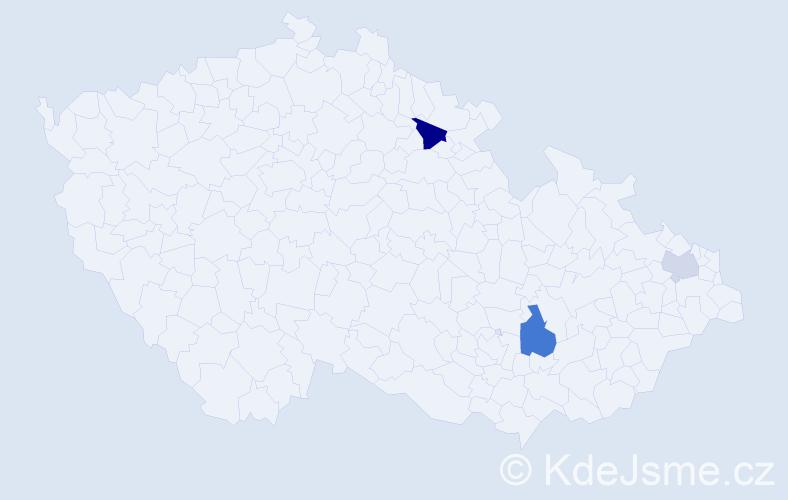 Příjmení: 'Iglo', počet výskytů 5 v celé ČR