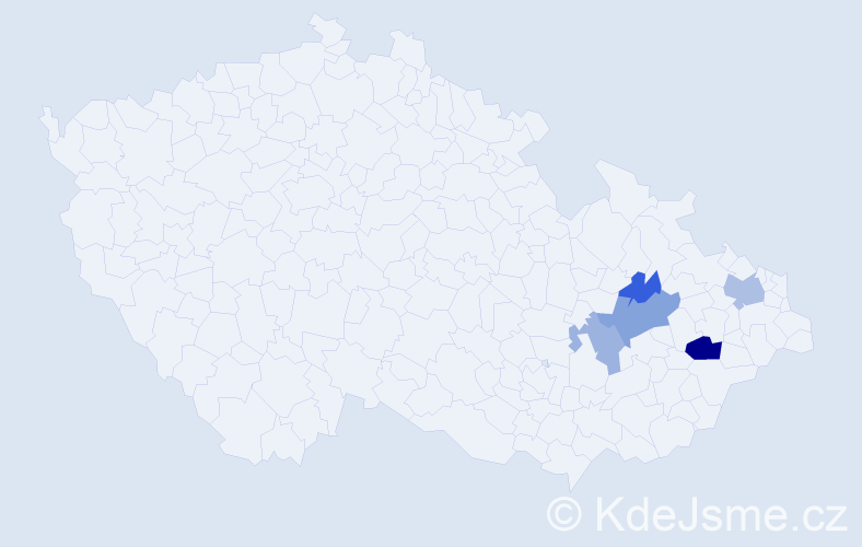 Příjmení: 'Červienka', počet výskytů 9 v celé ČR