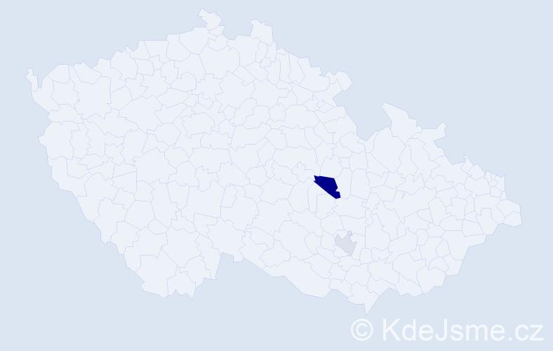 Příjmení: 'Imrišová', počet výskytů 3 v celé ČR