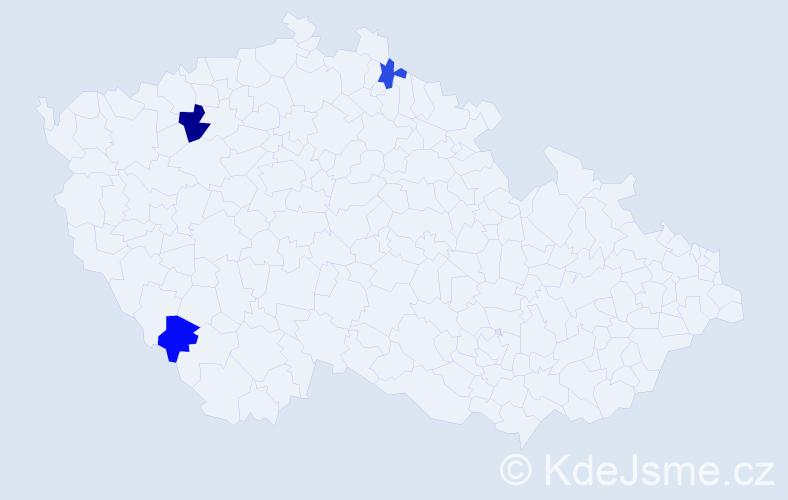 Příjmení: 'Dudoň', počet výskytů 4 v celé ČR