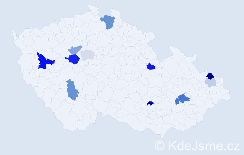 Příjmení: 'Dabrowská', počet výskytů 17 v celé ČR