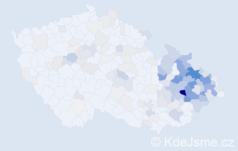 Příjmení: 'Grygar', počet výskytů 748 v celé ČR