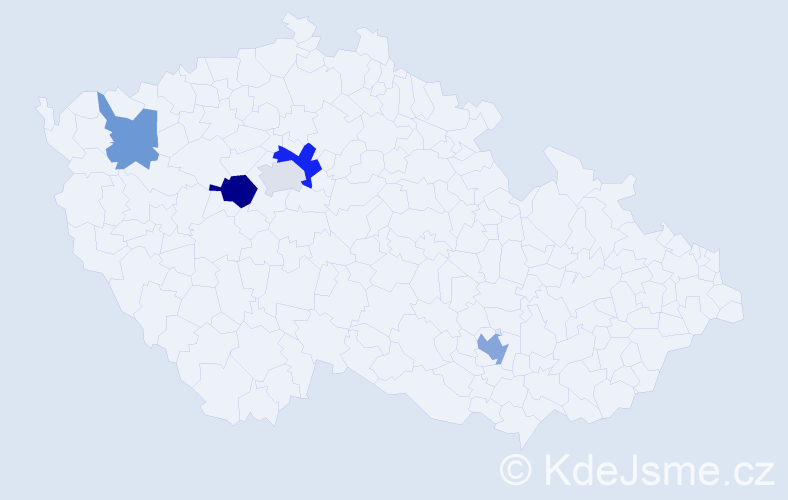 Příjmení: 'Kurhajec', počet výskytů 8 v celé ČR