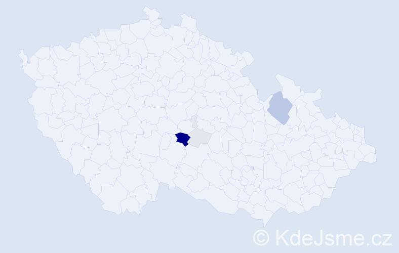 Příjmení: 'Eremka', počet výskytů 17 v celé ČR