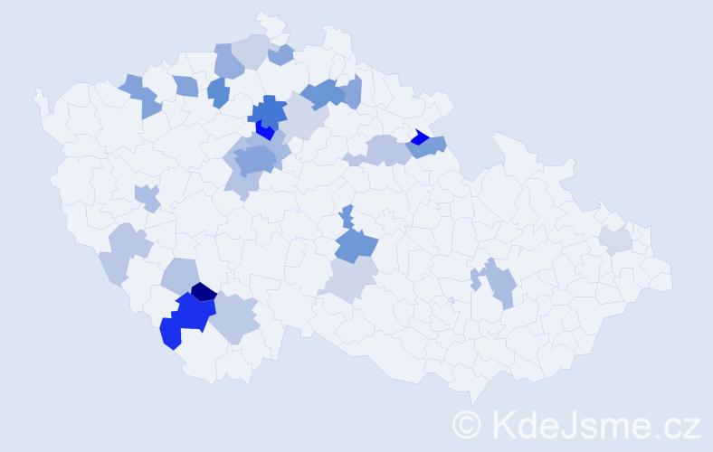 Příjmení: 'Laudová', počet výskytů 83 v celé ČR