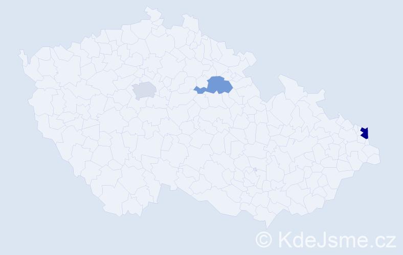 Příjmení: 'Ćwierzová', počet výskytů 4 v celé ČR