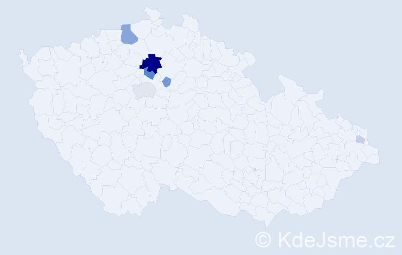 Příjmení: 'Darášová', počet výskytů 16 v celé ČR