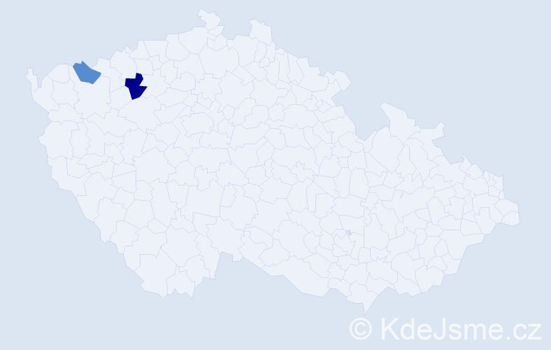 Příjmení: 'Ladižinský', počet výskytů 3 v celé ČR