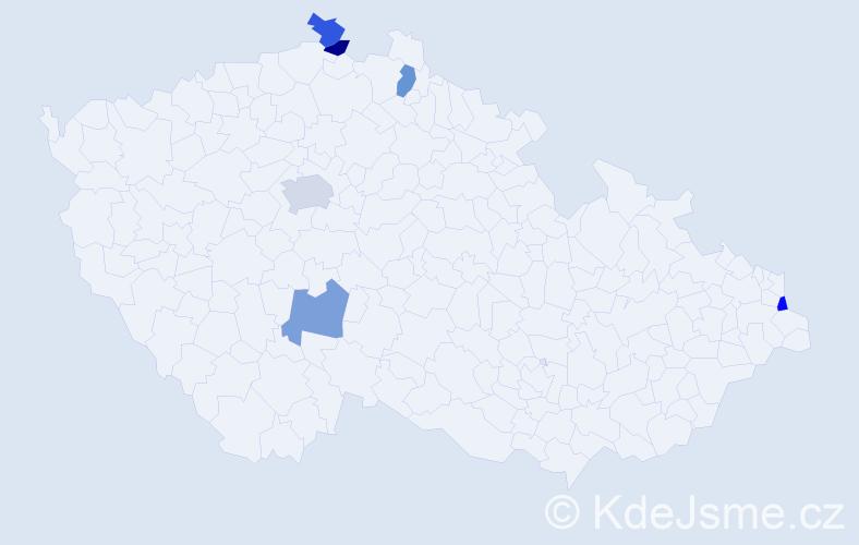 Příjmení: 'Barloková', počet výskytů 7 v celé ČR