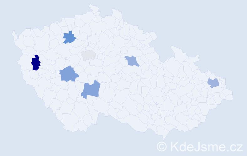 Příjmení: 'Behulová', počet výskytů 8 v celé ČR