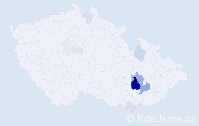 Příjmení: 'Alánová', počet výskytů 66 v celé ČR