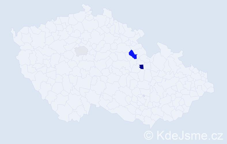 Příjmení: 'Ferchichi', počet výskytů 3 v celé ČR