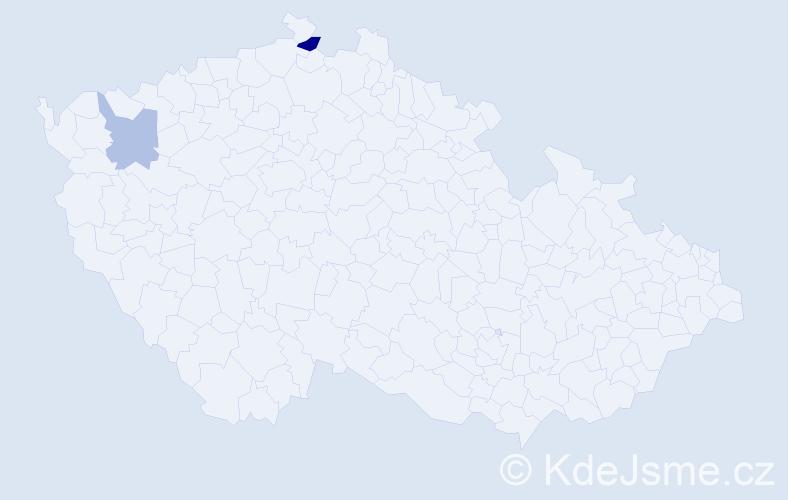 Příjmení: 'Breitbarth', počet výskytů 3 v celé ČR
