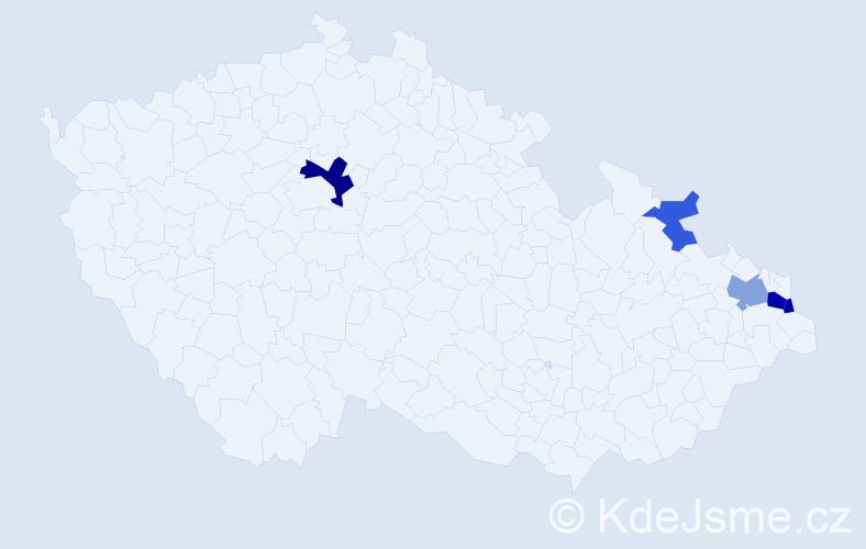 Příjmení: 'Lojza', počet výskytů 10 v celé ČR