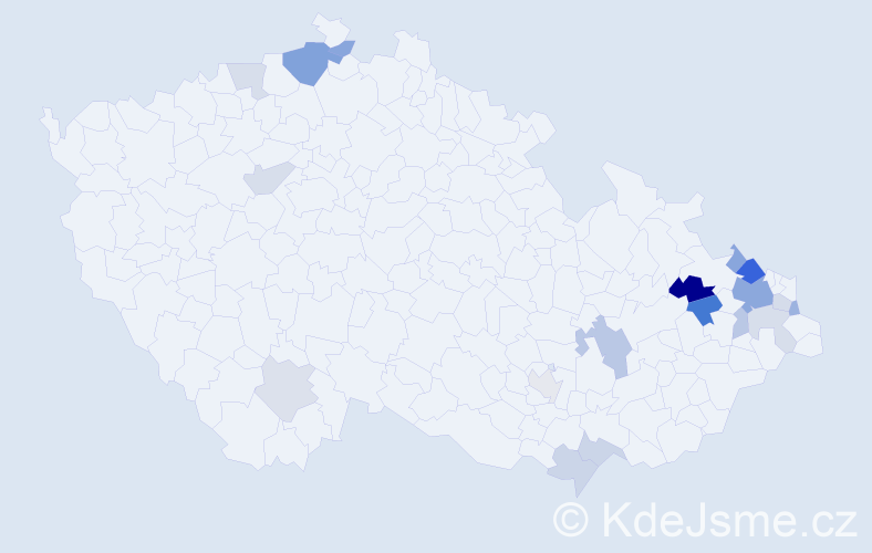 Příjmení: 'Gacíková', počet výskytů 37 v celé ČR