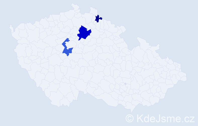 Příjmení: 'Laurýn', počet výskytů 14 v celé ČR