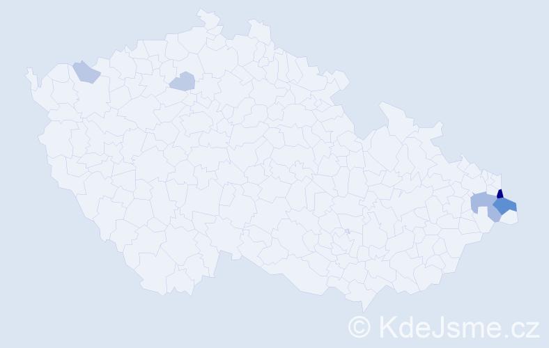 Příjmení: 'Baszczynski', počet výskytů 21 v celé ČR
