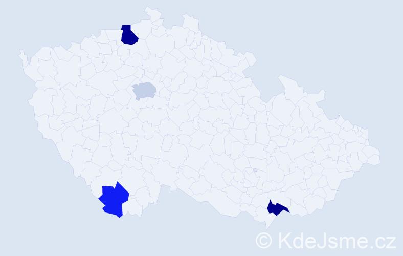 Příjmení: 'Macánek', počet výskytů 8 v celé ČR