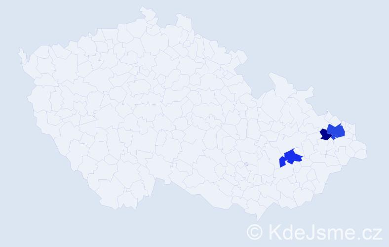 Příjmení: 'Iwoniak', počet výskytů 8 v celé ČR