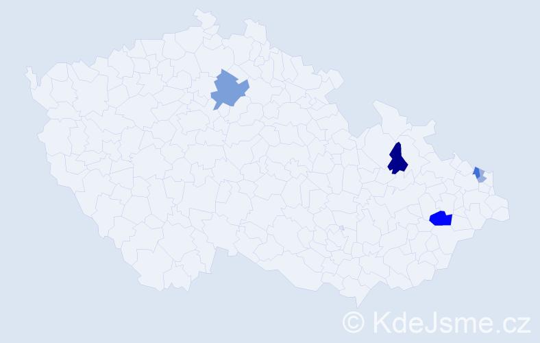 Příjmení: 'Grigerek', počet výskytů 12 v celé ČR