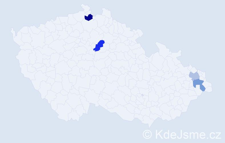 Příjmení: 'Fabíniová', počet výskytů 4 v celé ČR
