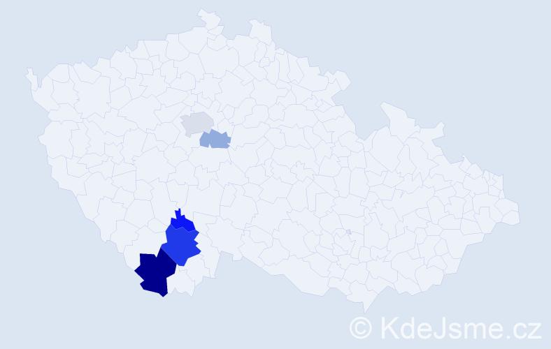 Příjmení: 'Farabauer', počet výskytů 16 v celé ČR