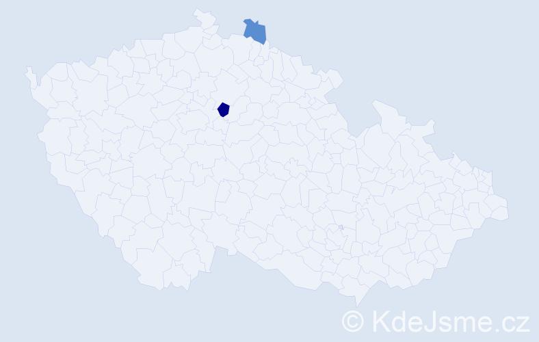 Příjmení: 'Kúrňava', počet výskytů 3 v celé ČR