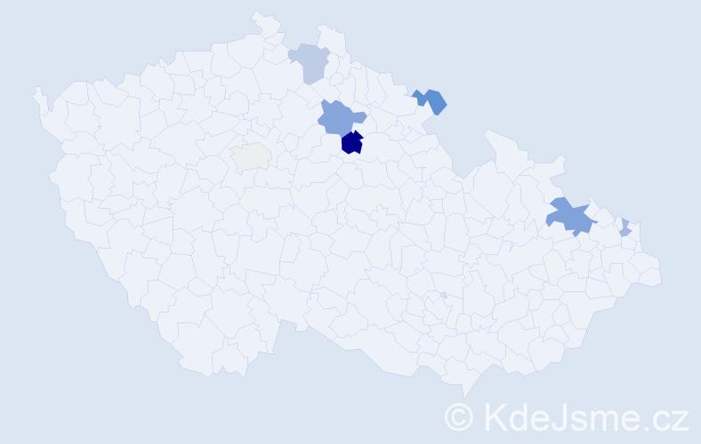 Příjmení: 'Grusmanová', počet výskytů 22 v celé ČR