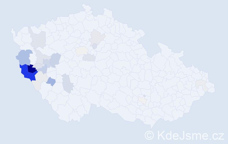 Příjmení: 'Kaufner', počet výskytů 82 v celé ČR