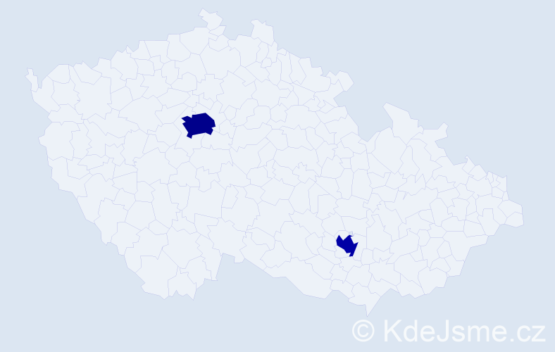 Příjmení: 'Geri', počet výskytů 4 v celé ČR