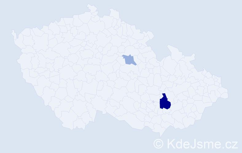 Příjmení: 'Kľúčová', počet výskytů 4 v celé ČR