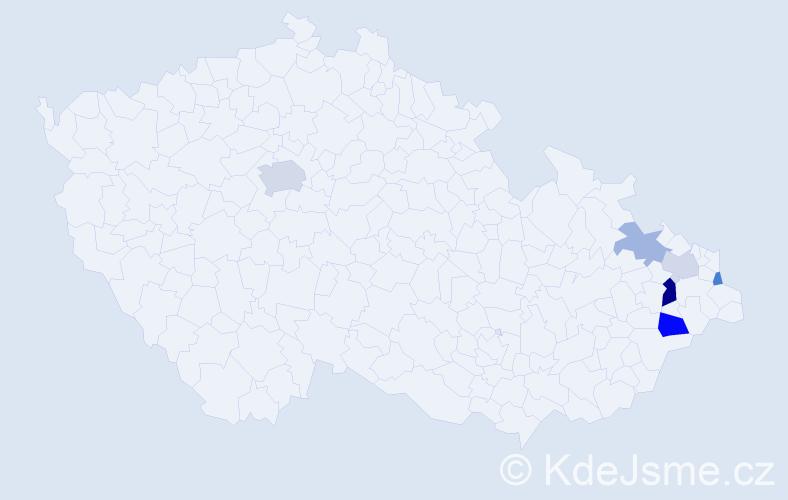 Příjmení: 'Glamošová', počet výskytů 11 v celé ČR