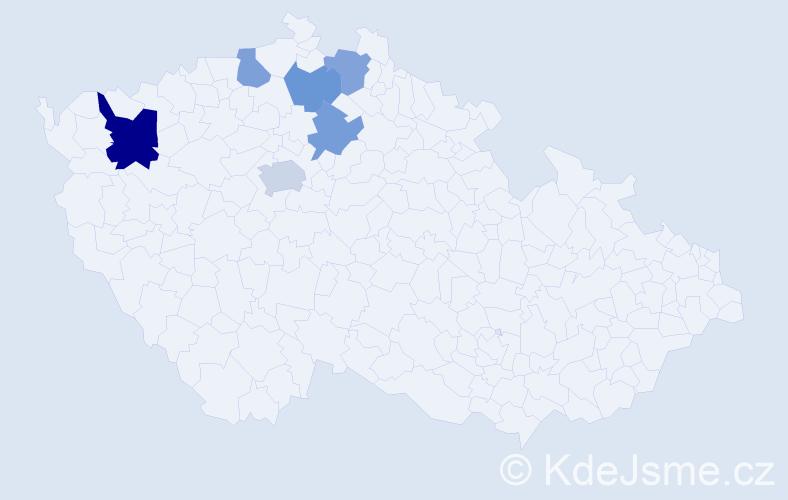 Příjmení: 'Eberhaltová', počet výskytů 9 v celé ČR
