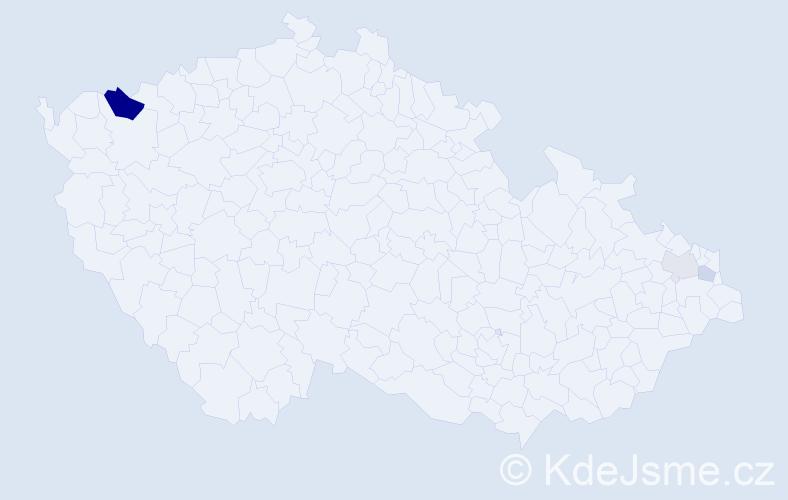 Příjmení: 'Ďurža', počet výskytů 7 v celé ČR