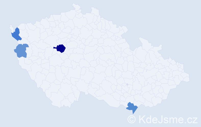 Příjmení: 'Feffer', počet výskytů 9 v celé ČR