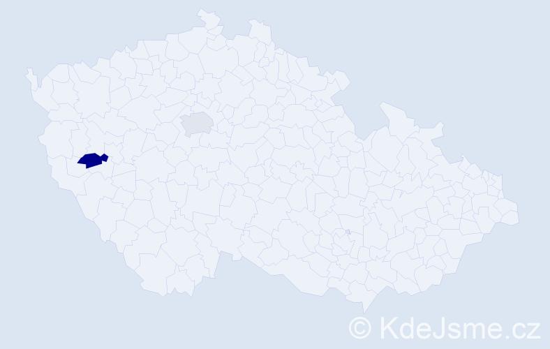 Příjmení: 'Kadlecovičová', počet výskytů 2 v celé ČR