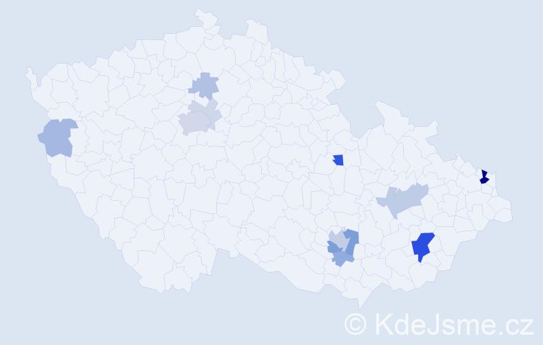 Příjmení: 'Lata', počet výskytů 40 v celé ČR