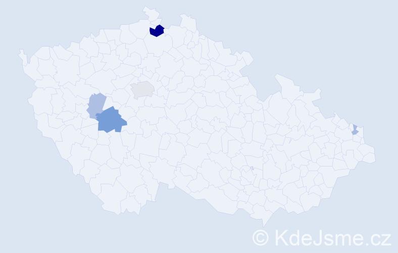 Příjmení: 'Grančičová', počet výskytů 12 v celé ČR