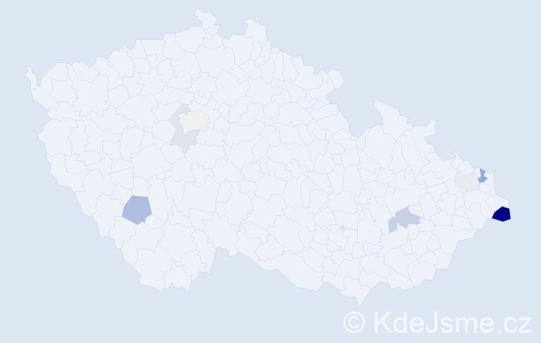 Příjmení: 'Dideková', počet výskytů 17 v celé ČR