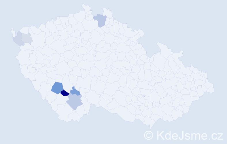 Příjmení: 'Cimrhanzl', počet výskytů 16 v celé ČR
