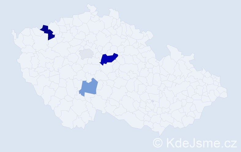 Příjmení: 'Erdeiová', počet výskytů 7 v celé ČR