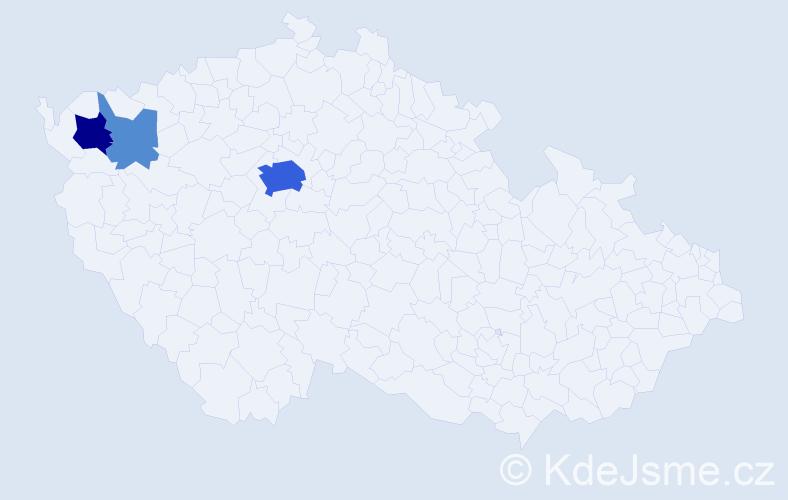 Příjmení: 'Görgl', počet výskytů 14 v celé ČR
