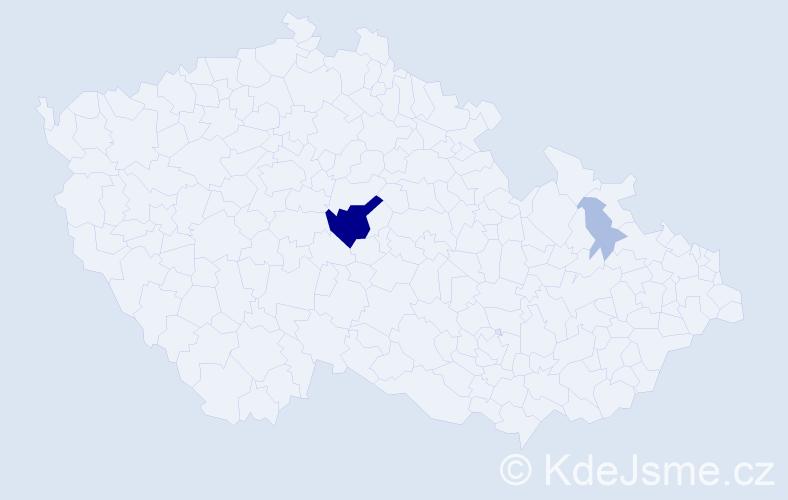Příjmení: 'Barenčík', počet výskytů 10 v celé ČR
